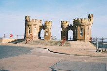 Withernsea, entrance to the beach, East Yorkshire © Dr Neil Clifton